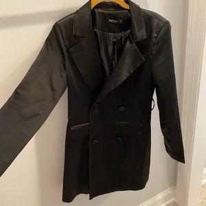 NastyGal silk blazer dress